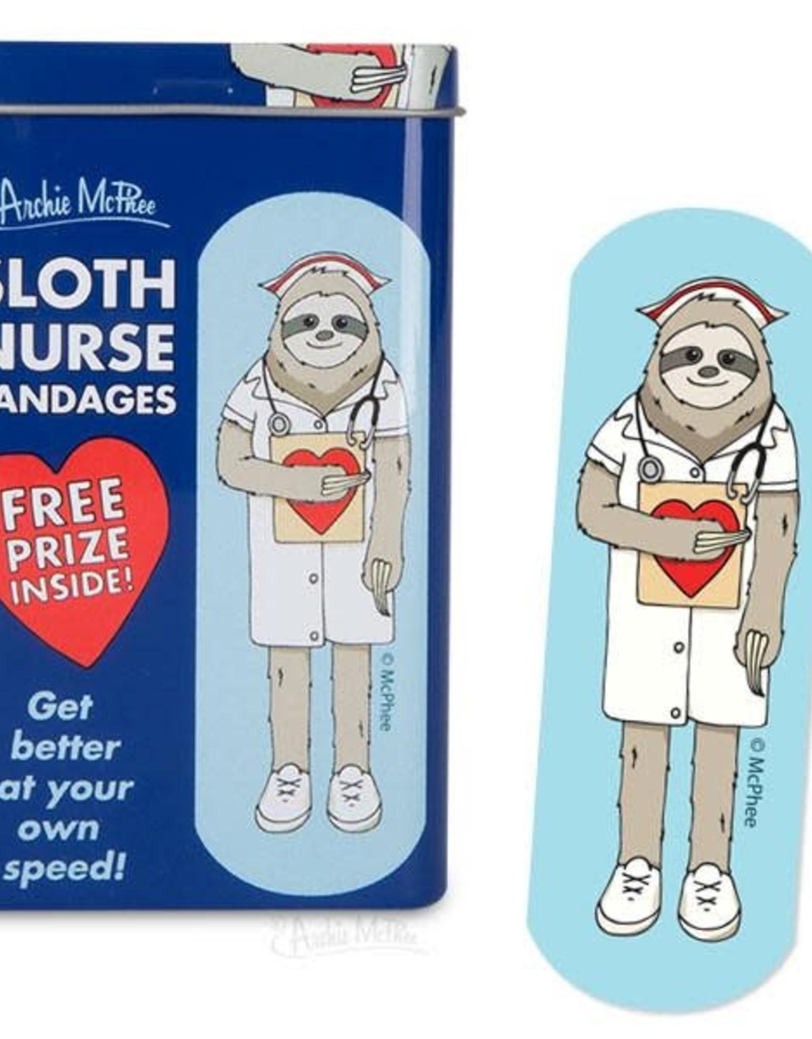 Archie McPhee Bandage Sloth Nurse