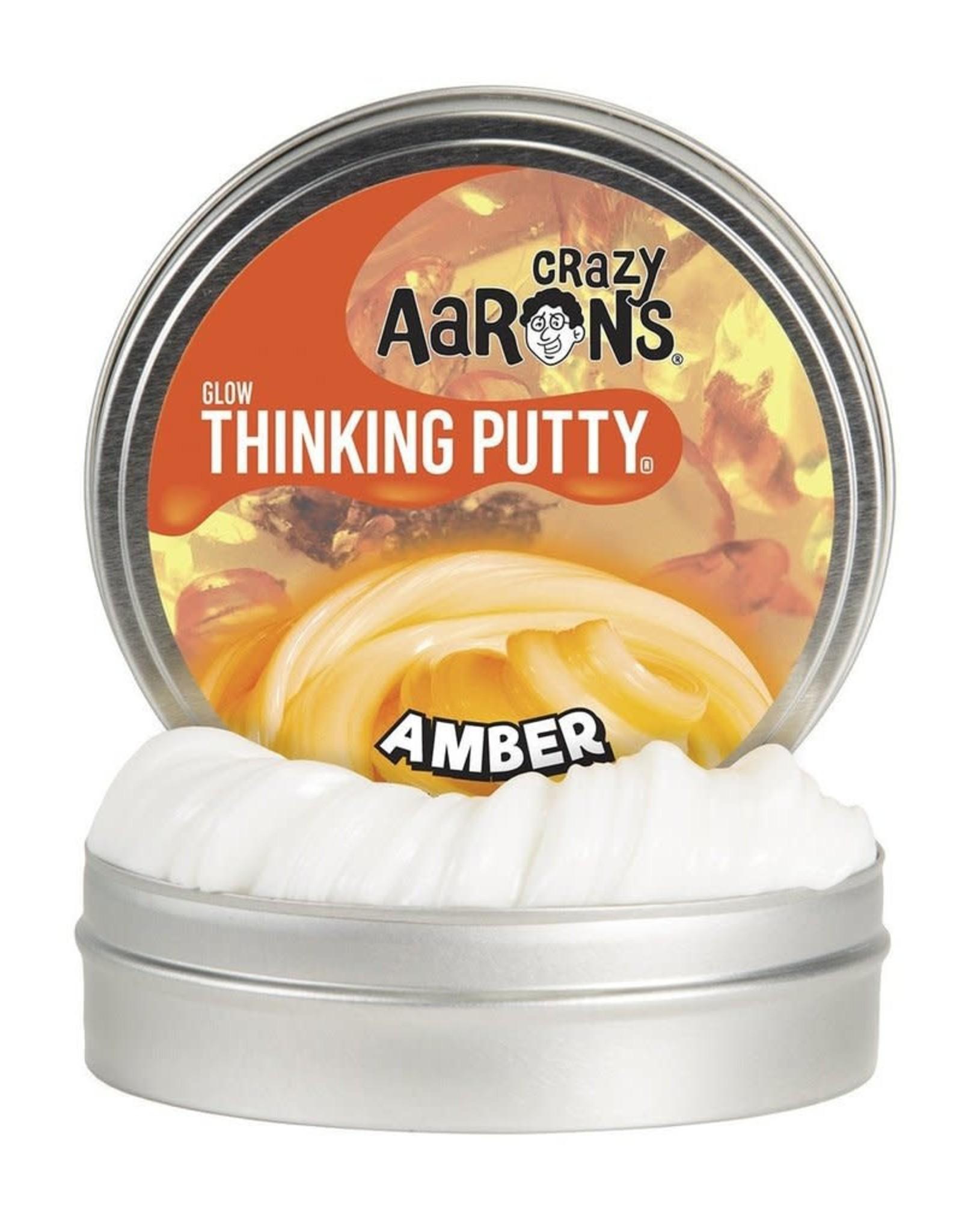 Crazy Aaron's Thinking Putty Amber Mini