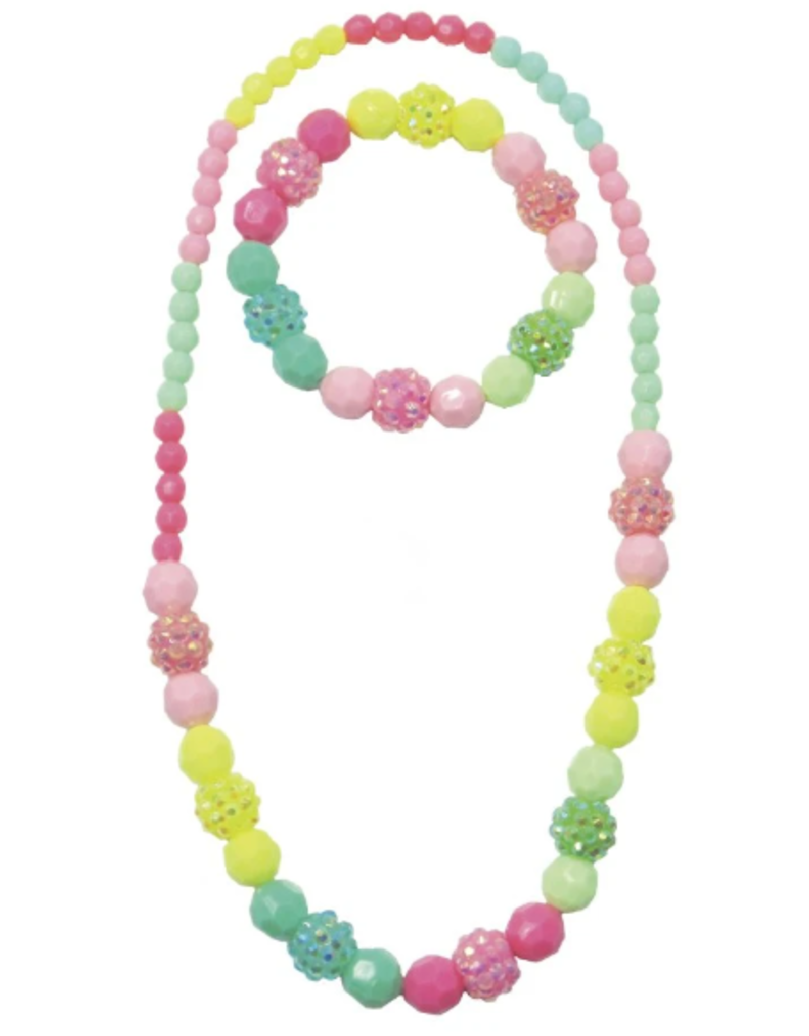 Great Pretenders Vividly Vibrant Necklace and Bracelet Set