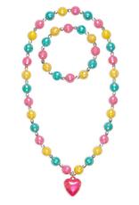 Great Pretenders Happy Heart Necklace and Bracelet Set