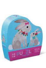 Crocodile Creek Puzzle Bunny Love 12 pc mini