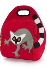 Dabbawalla Lunch Bag red/grey lemur