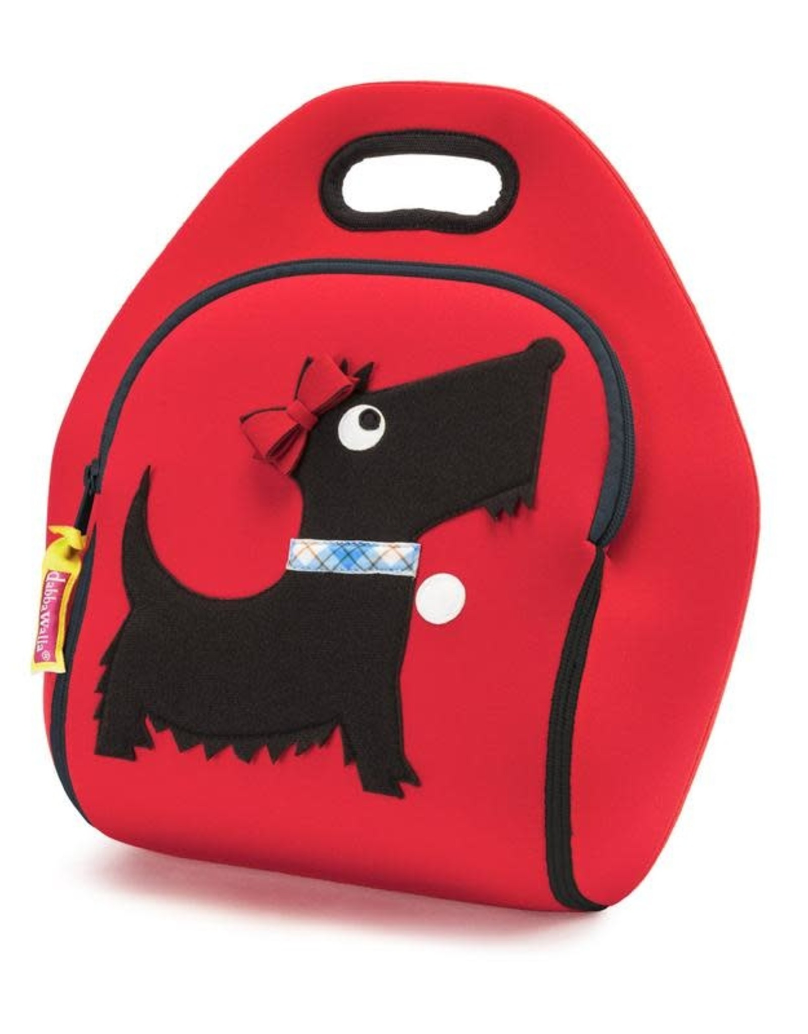 Dabbawalla Lunch Bag red/black scottie