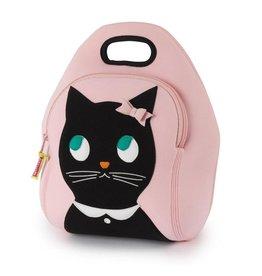 Dabbawalla Lunch Bag pink/black kitty