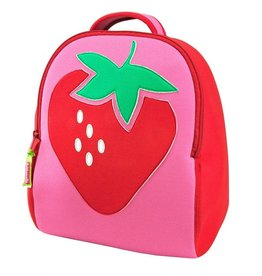 Dabbawalla Backpack red/pink strawberry fields