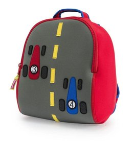 Dabbawalla Backpack red/grey fast track race car