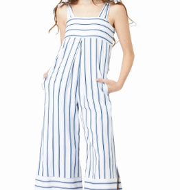 Habitual Girl Hannah Striped Jumpsuit with Side Slits