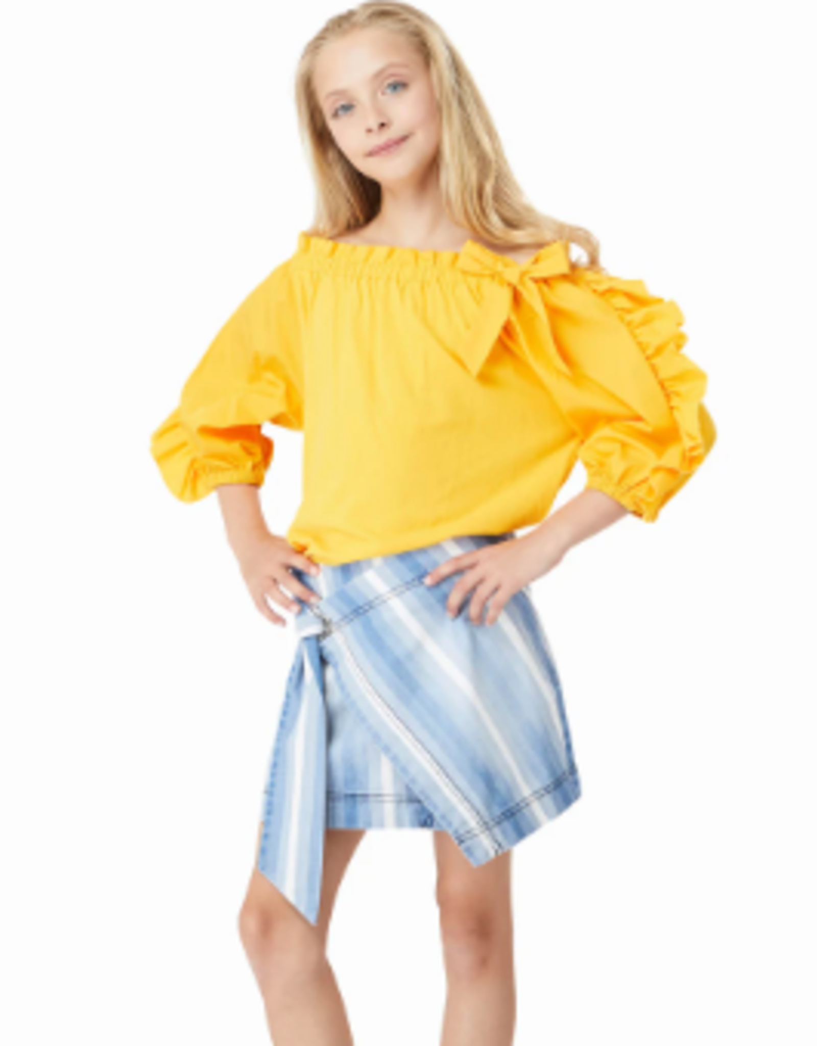 Habitual Girl Nahla Stripe Wrap Skort