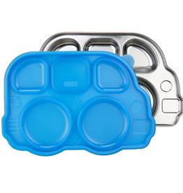 Innobaby DinDinSmart Divided Stainless Platter, blue