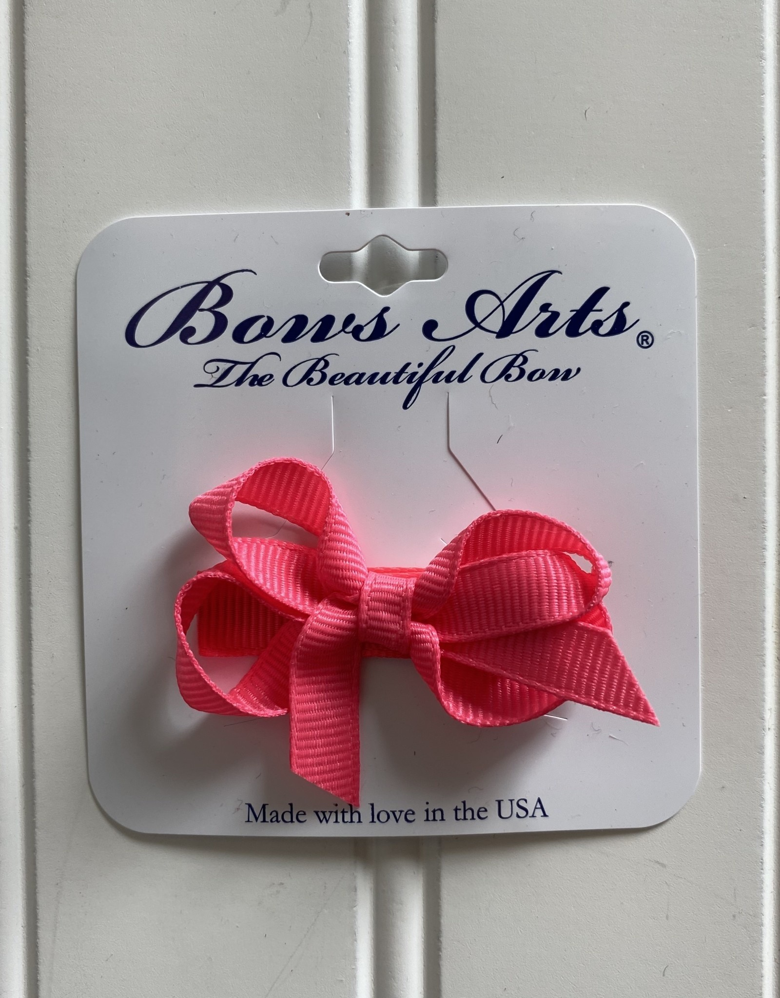 "Bows Arts Infant Classic Bow 2"" Grippie Clippie -Shocking Pink"