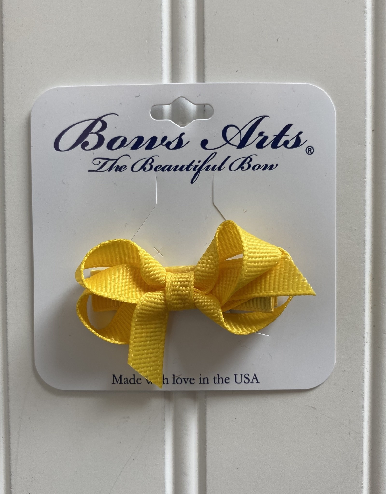 "Bows Arts Infant Classic Bow 2"" Grippie Clippie -Maize"