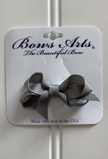 "Bows Arts Infant Classic Bow 2"" Grippie Clippie -Grey"