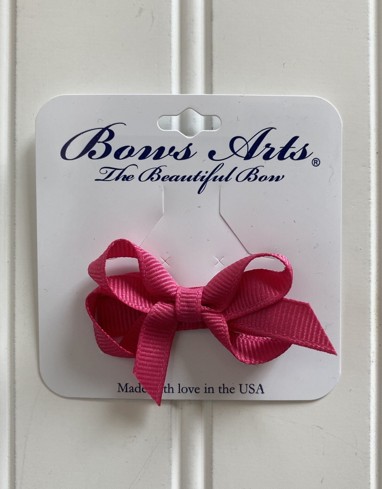 """Bows Arts Infant Classic Bow 2"""" Grippie Clippie - Hot Pink"""