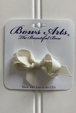 "Bows Arts Infant Classic Bow 2"" Grippie Clippie - Antique White"