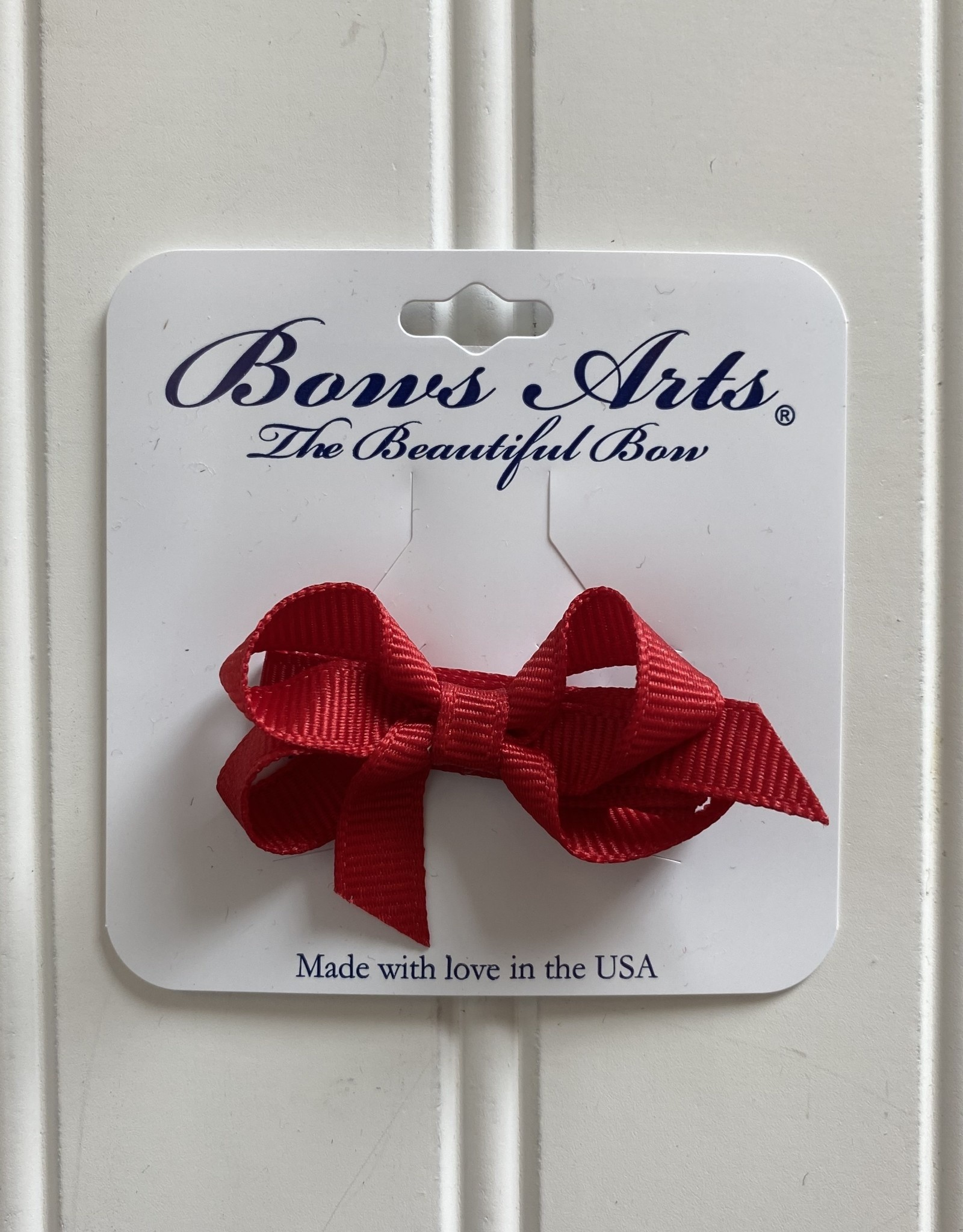 "Bows Arts Infant Classic Bow 2"" Grippie Clippie - Red"