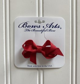 """Bows Arts Infant Classic Bow 2"""" Grippie Clippie - Red"""