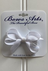 "Bows Arts Infant Classic Bow 2"" Grippie Clippie - White"