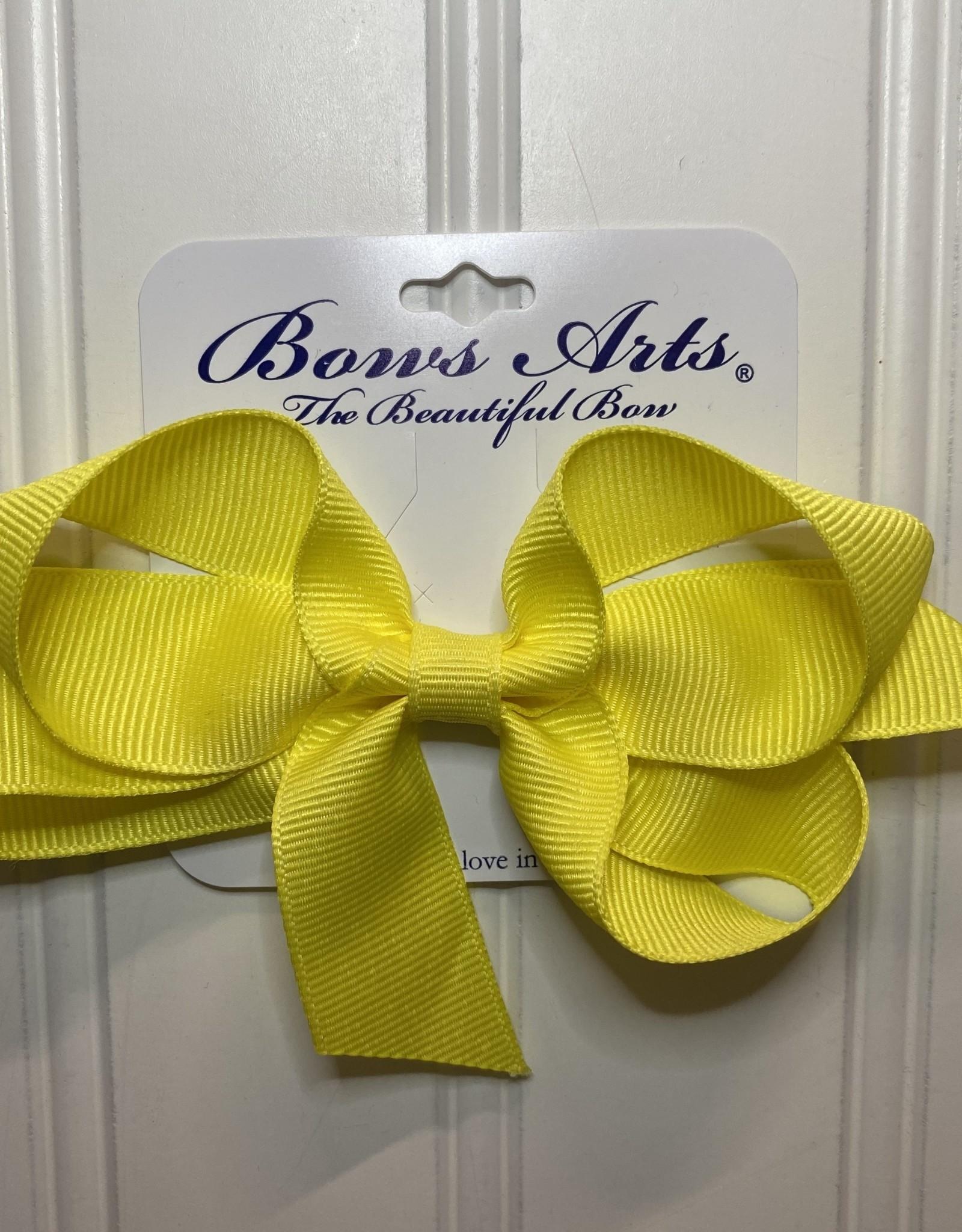 "Bows Arts Small Classic Bow 4"" - Lemon"