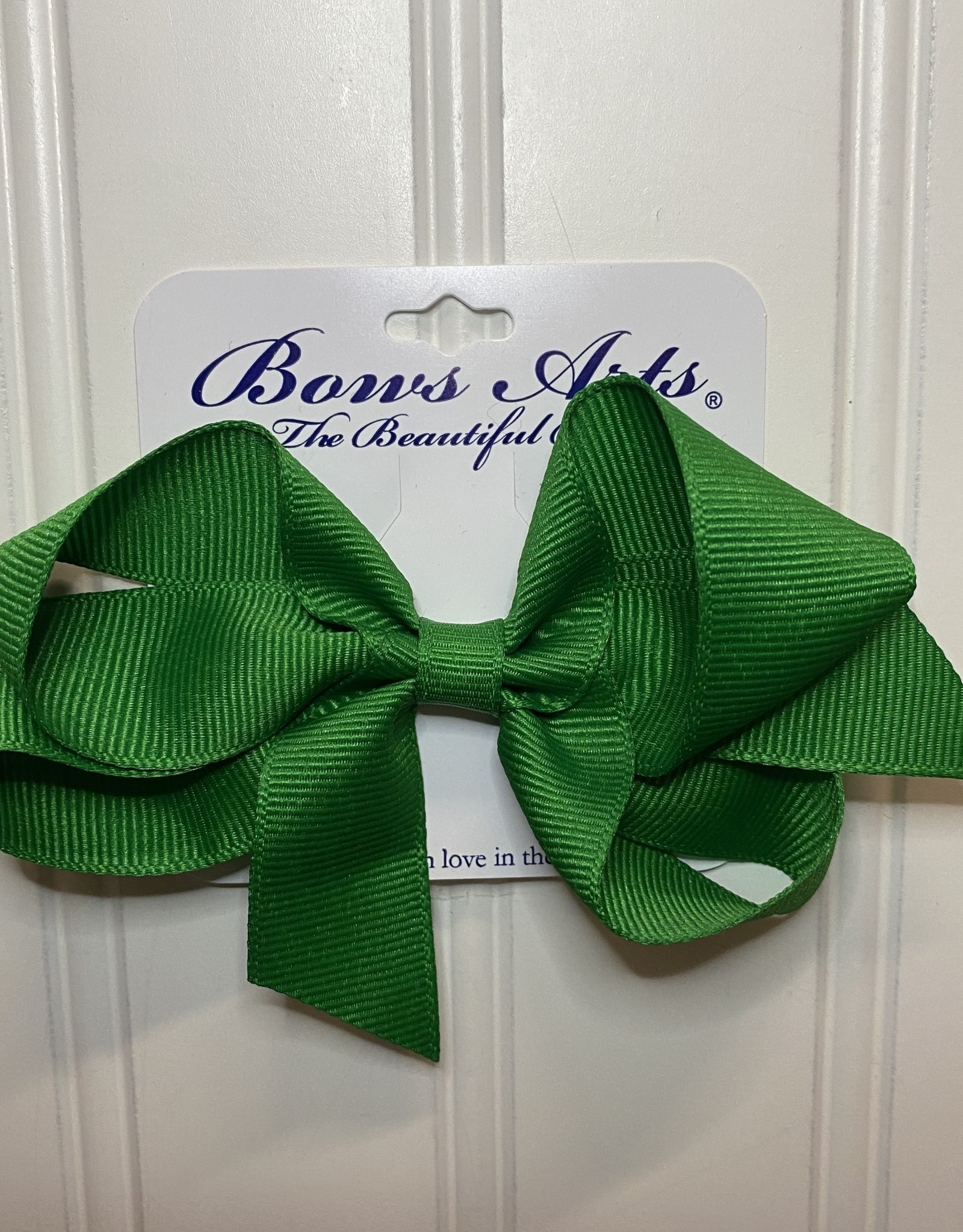 "Bows Arts Small Classic Bow 4"" - Emerald"