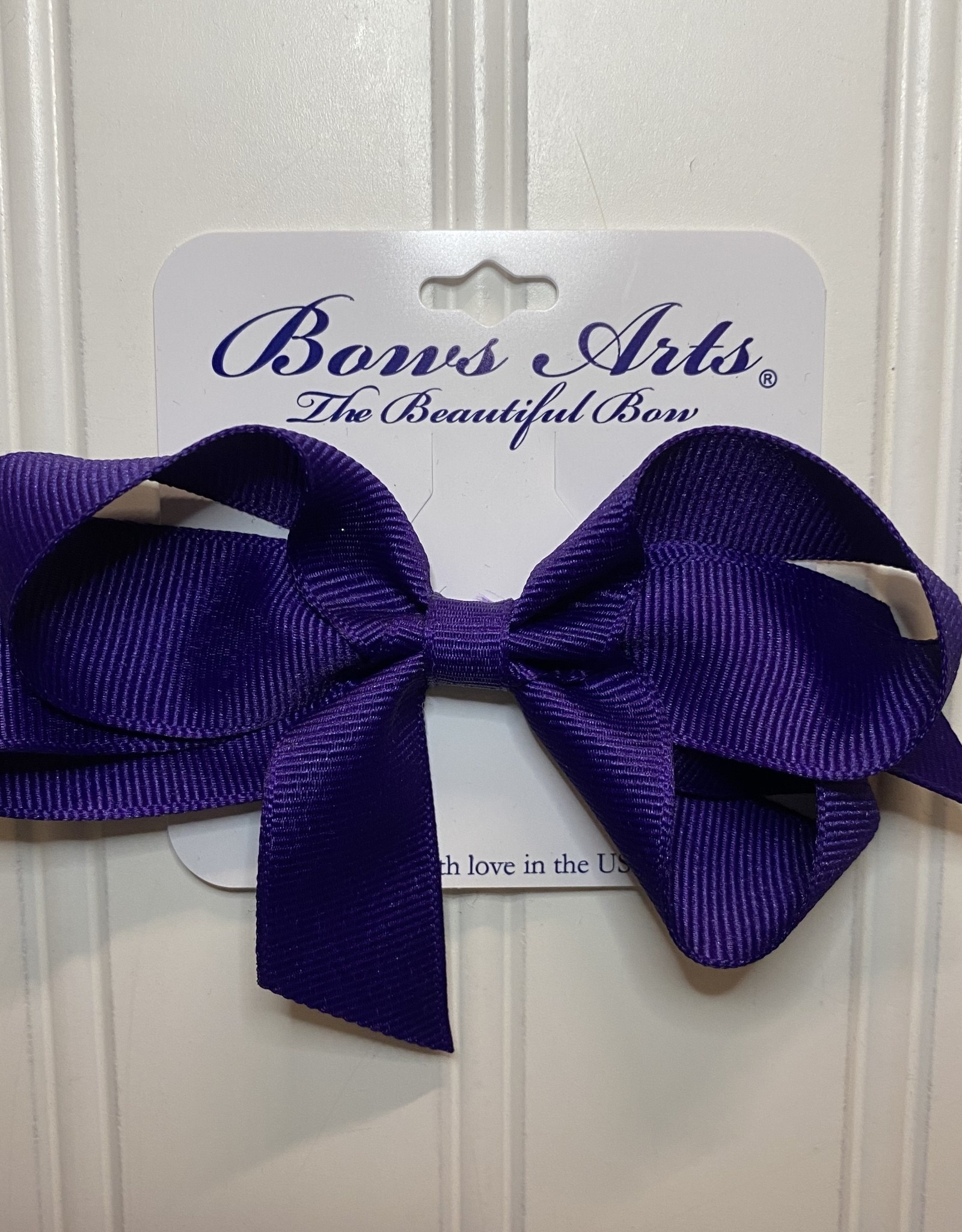 "Bows Arts Small Classic Bow 4"" - Regal Purple"