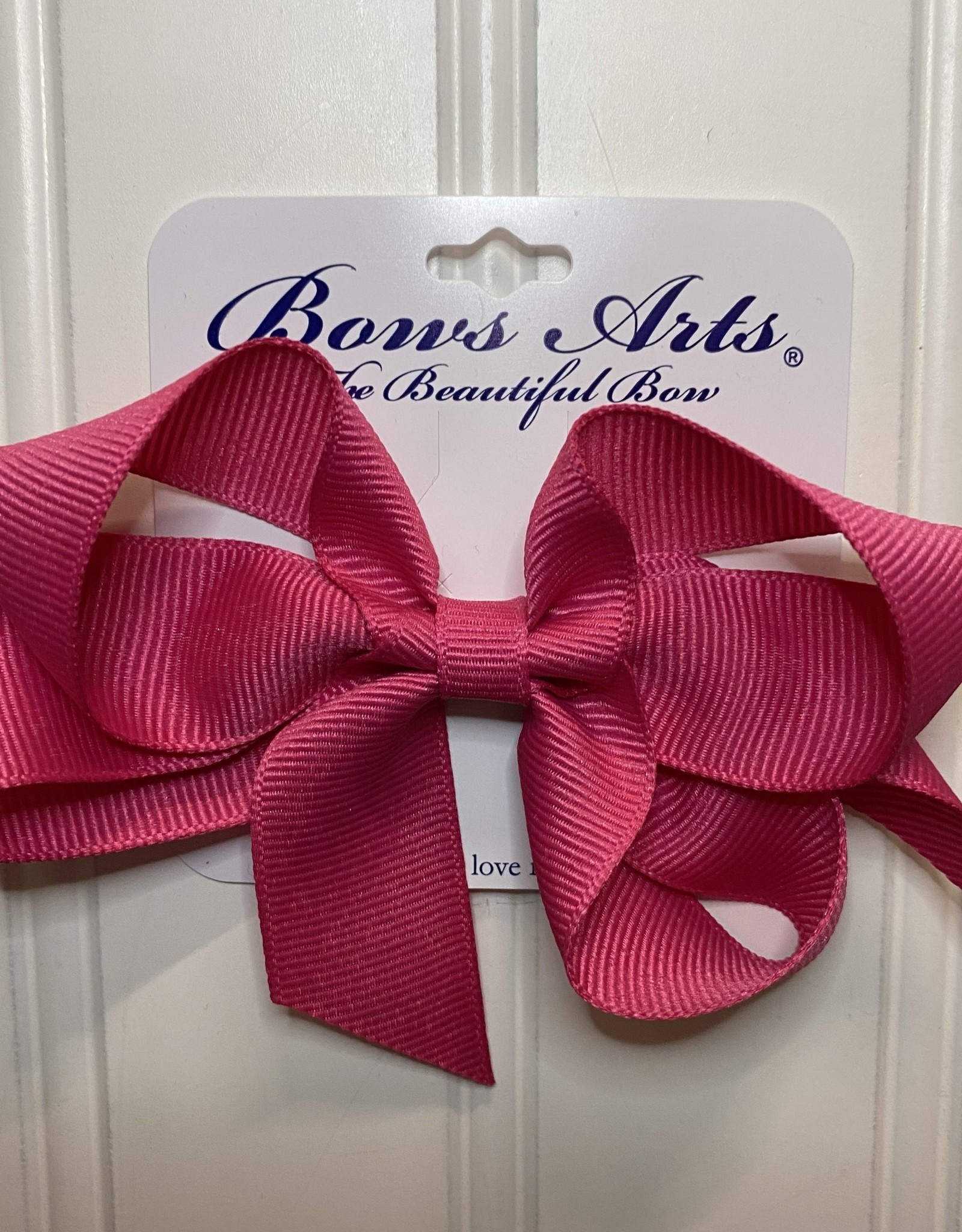 "Bows Arts Small Classic Bow 4"" - Shocking Pink"
