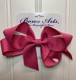 """Bows Arts Small Classic Bow 4"""" - Shocking Pink"""