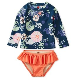 Tea Printed Rash Guard Baby Set