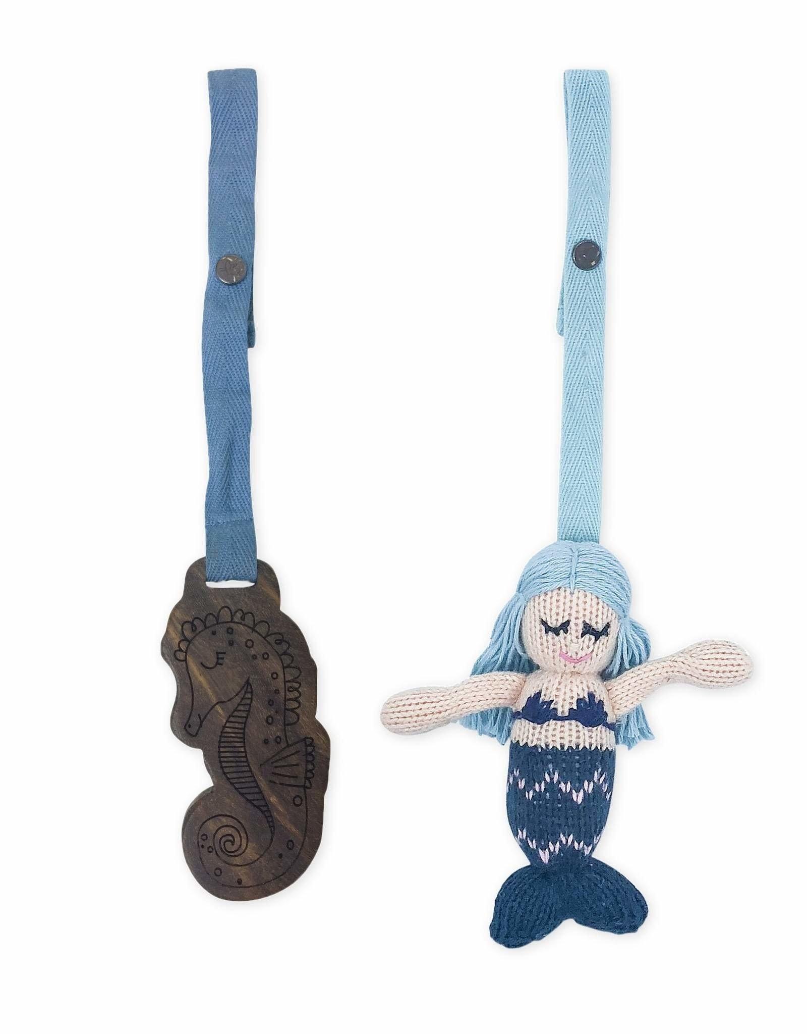Finn + Emma Stroller Toys, 2 Piece Set Penelope (mermaid) + Seahorse