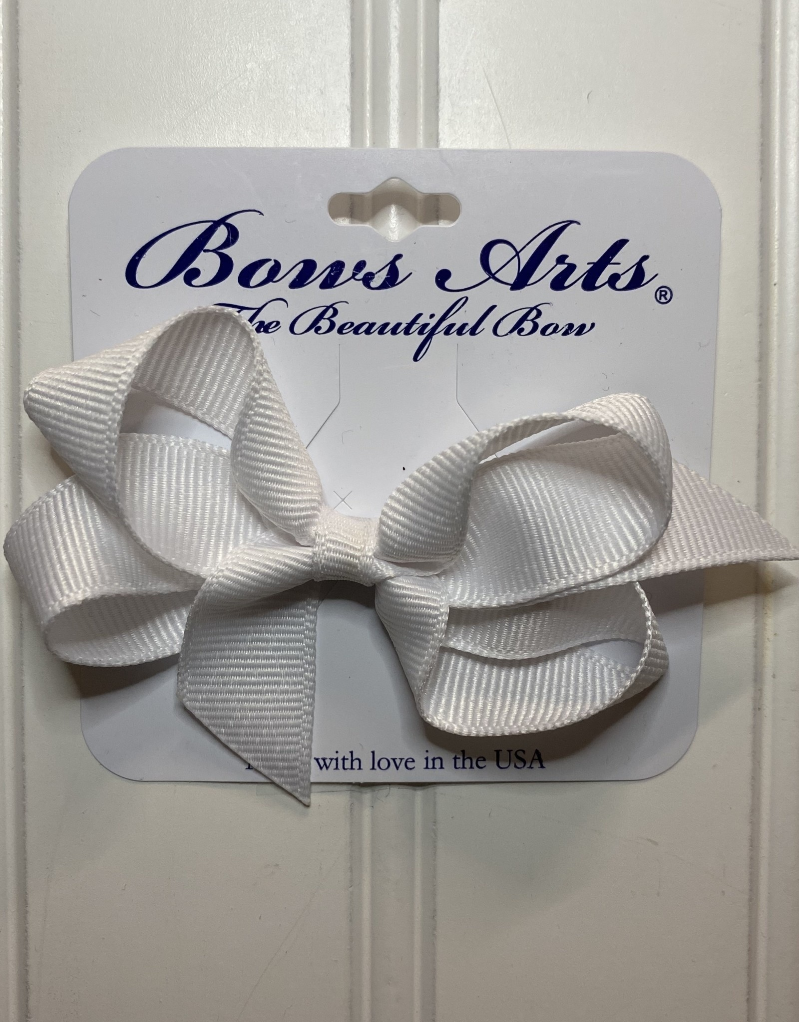 "Bows Arts Toddler Classic Bow 3"" - White"