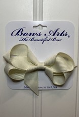"""Bows Arts Toddler Classic Bow 3"""" -Antique White"""