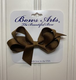 """Bows Arts Toddler Classic Bow 3"""" - Milk Chocolate"""