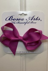 "Bows Arts Toddler Classic Bow 3"" - Wildberry"