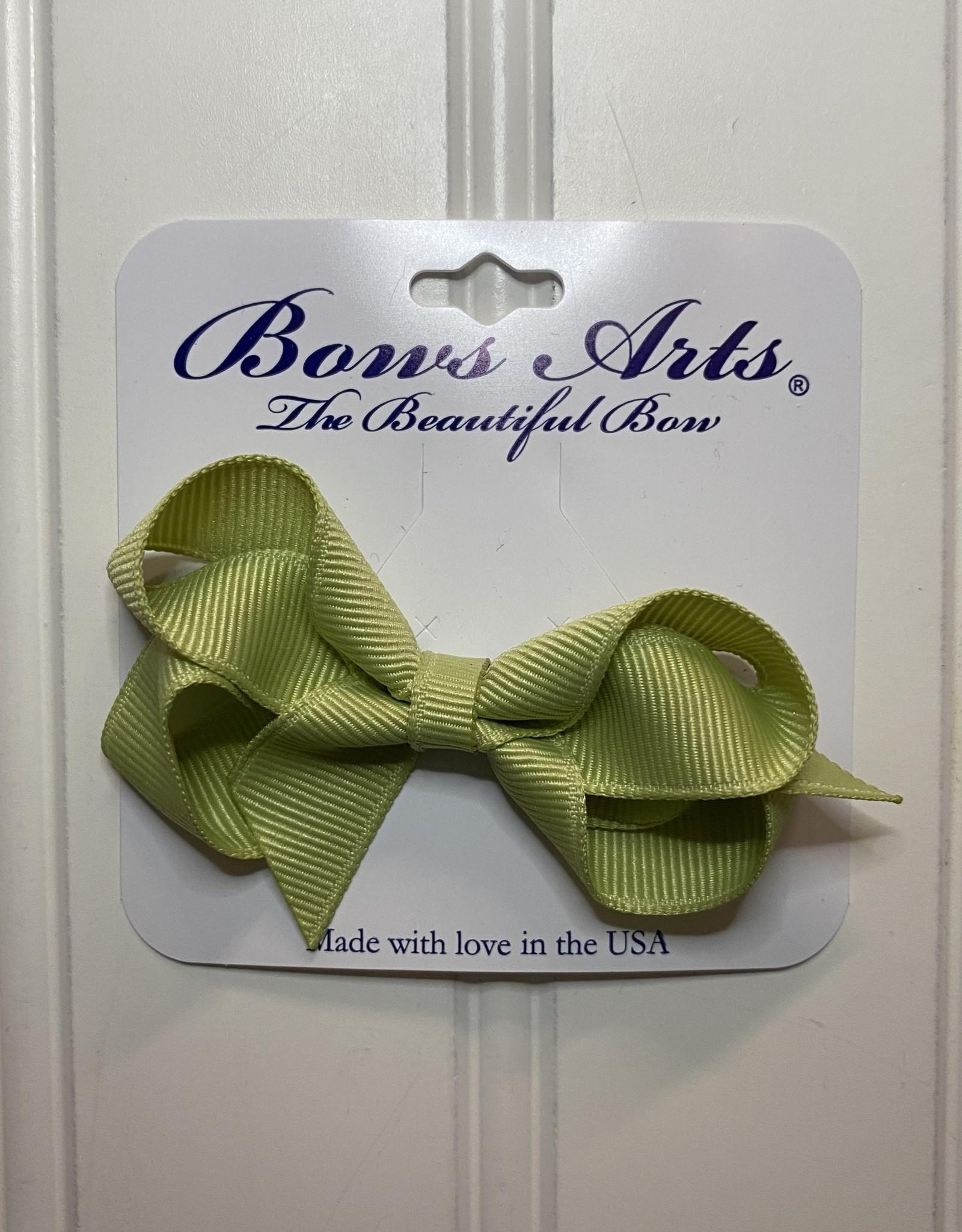 "Bows Arts Toddler Classic Bow 3"" - Lemon Grass"