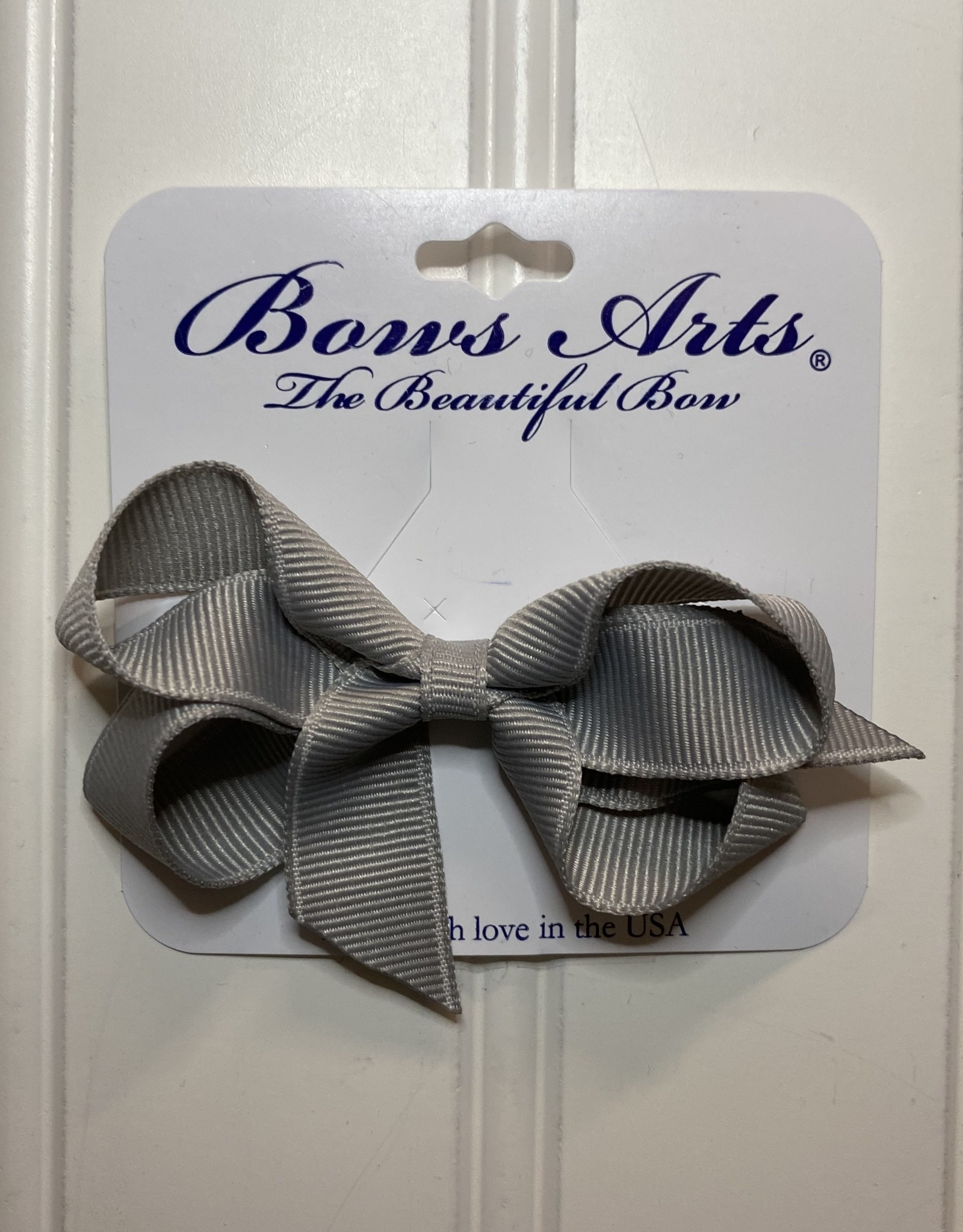 """Bows Arts Toddler Classic Bow 3"""" - Grey"""