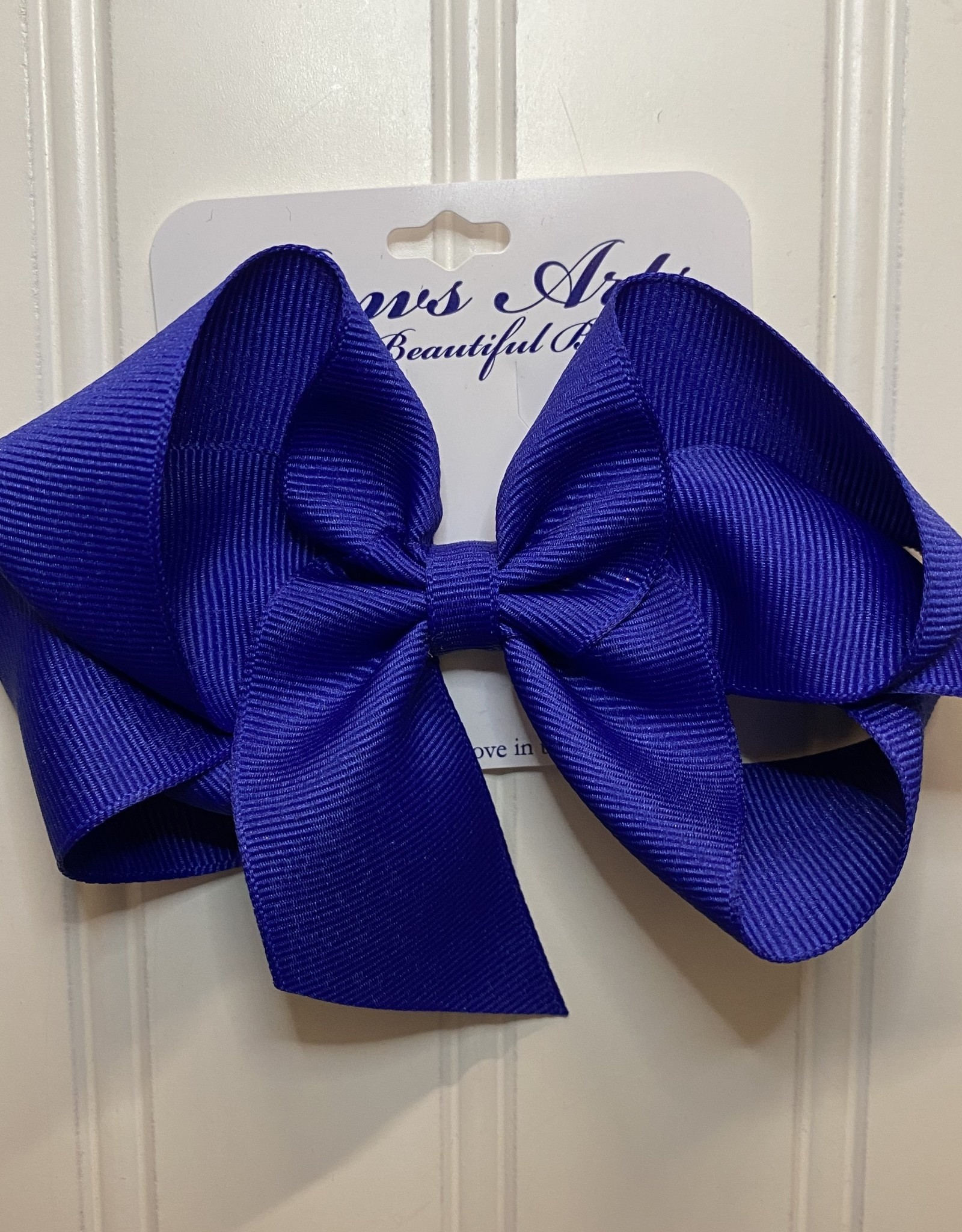 "Bows Arts Big Classic Bow 5"" - Royal"