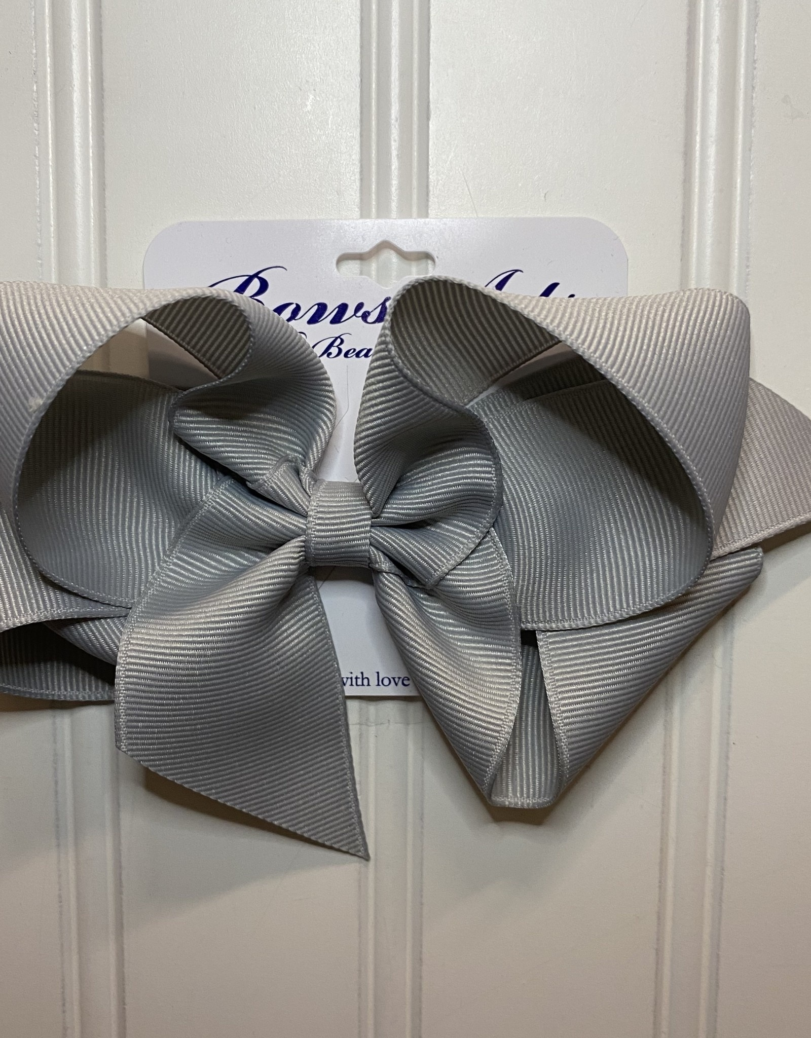 "Bows Arts Big Classic Bow 5"" - Pewter"