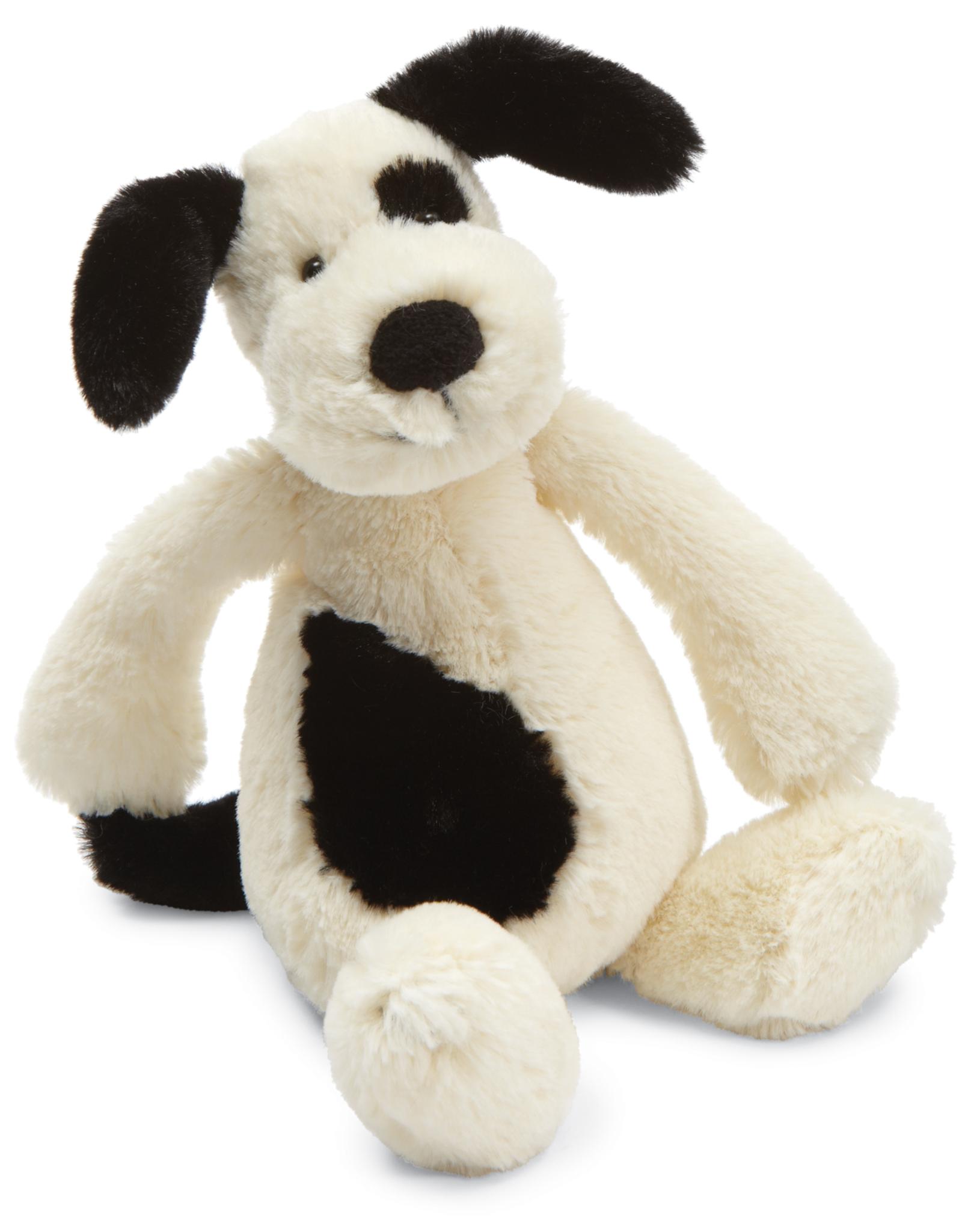 JellyCat Bashful Puppy black/cream small