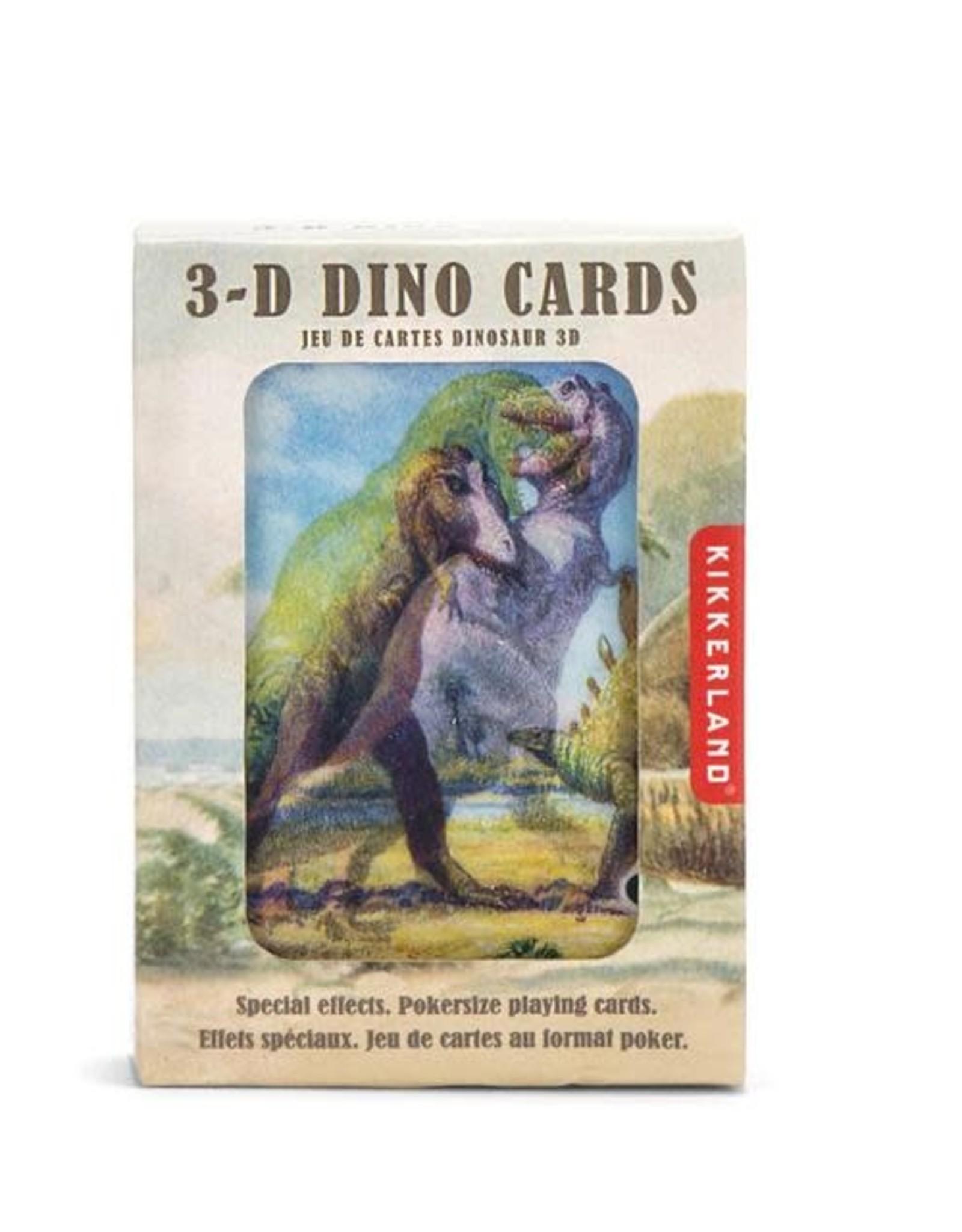 Kikkerland 3D Playing Cards Dinosaur
