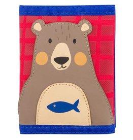 Stephen Joseph Wallet Blue Red Brown Bear