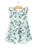 City Mouse Muslin Flutter V Back Dress