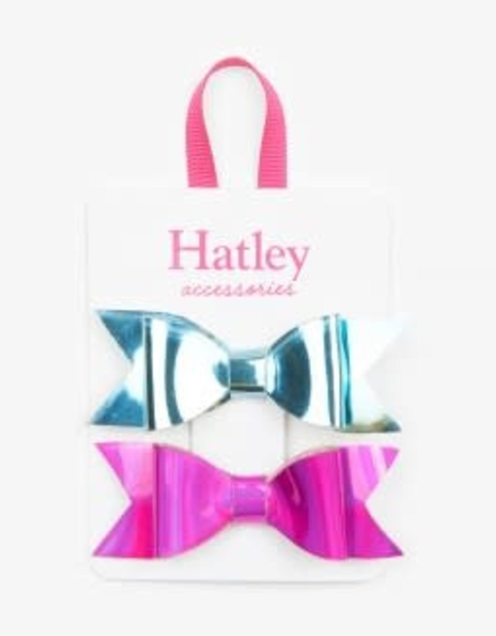 Hatley Bows Hair Clips (set of 2) Metallic