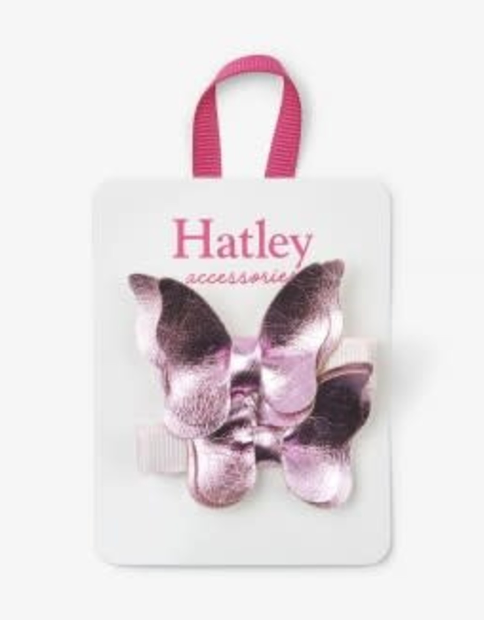 Hatley Bowterflies Hair Clips (set of 2) Pink Shimmer
