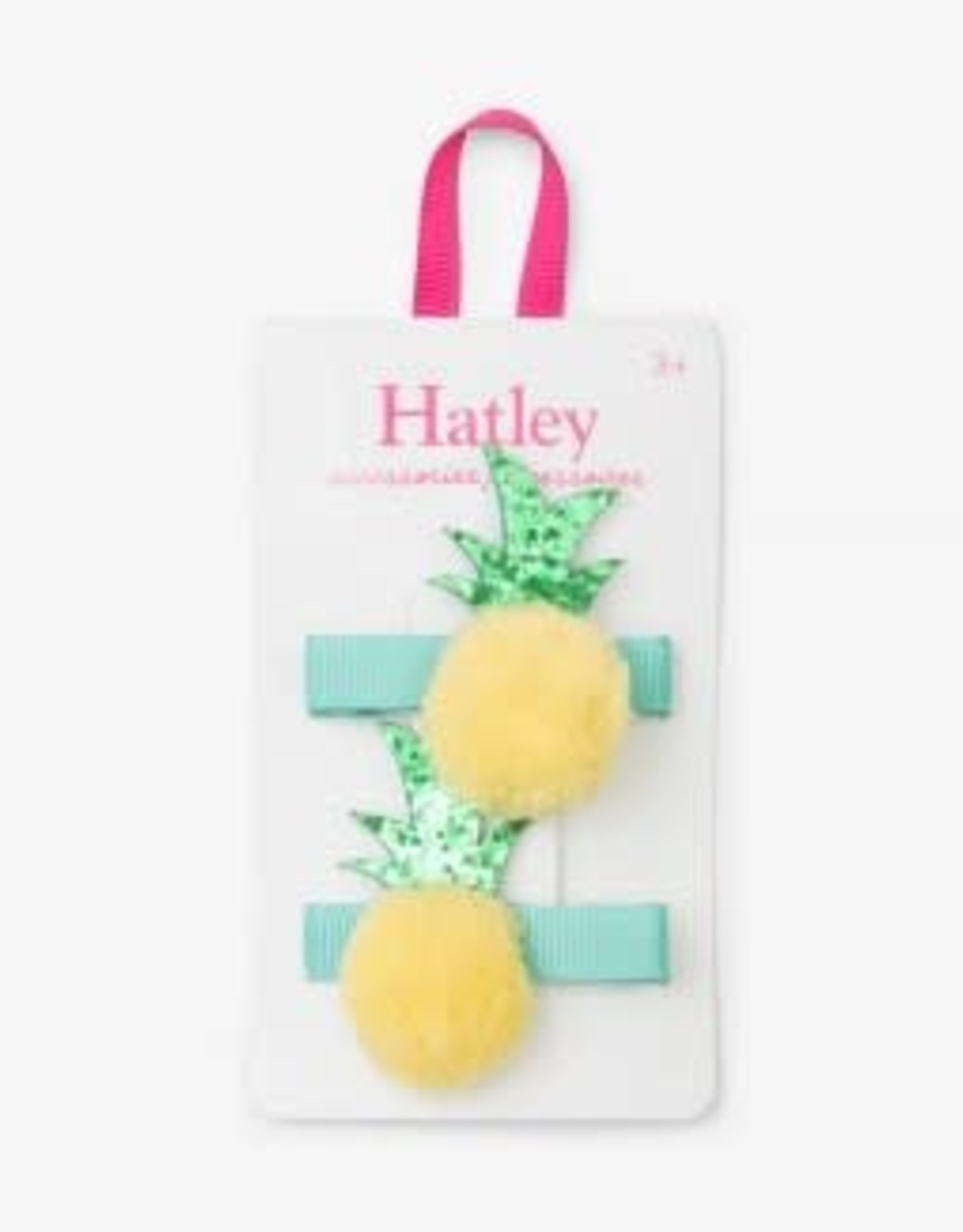 Hatley Pom Pom Pineapples Hair Clips (set of 2)