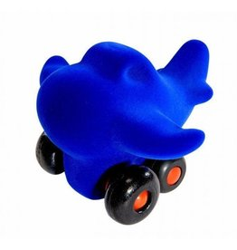 Rubbabu Little Vehicle Blue Airplane