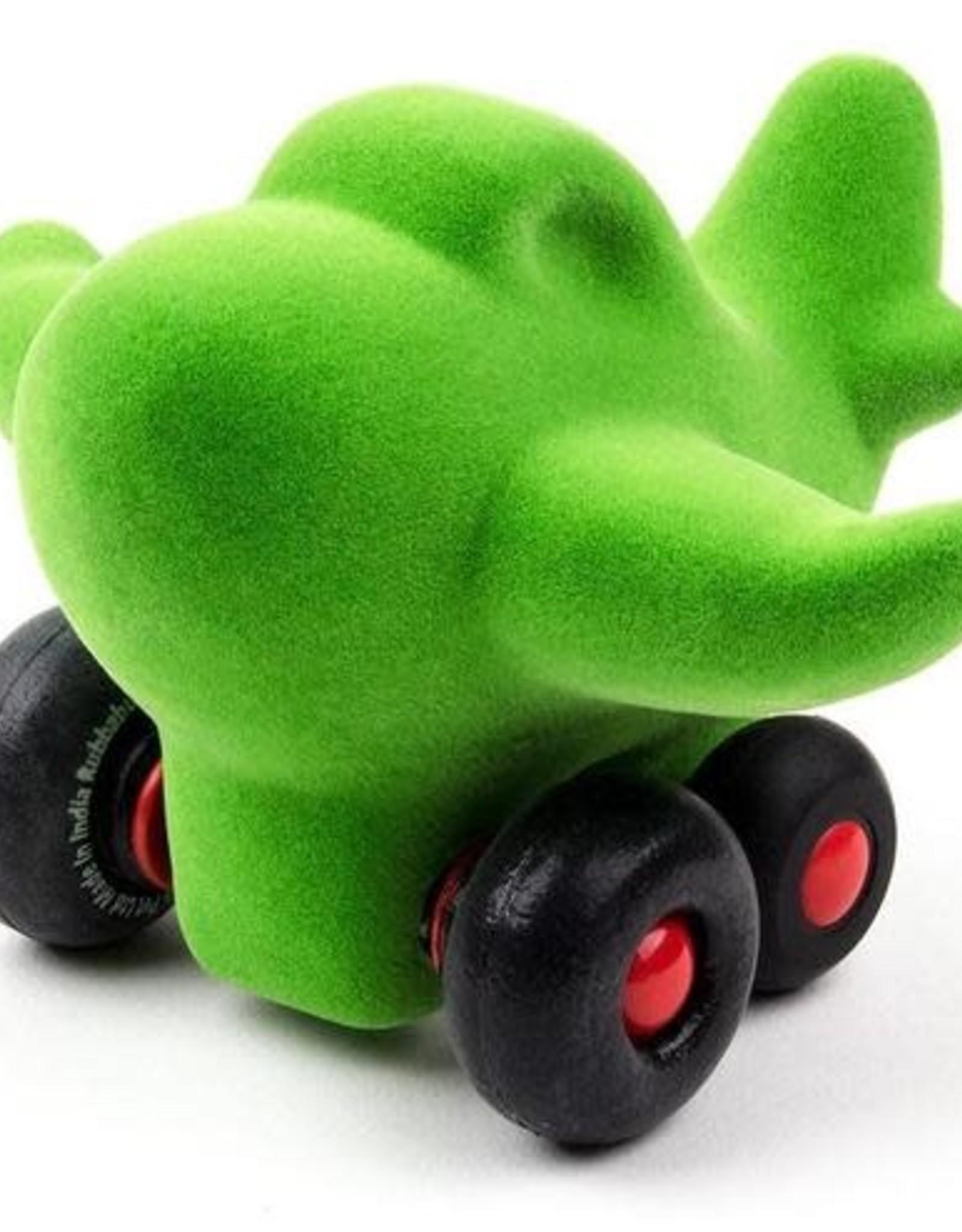 Rubbabu Little Vehicle Green Airplane