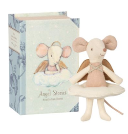 Maileg Big Sister Angel Mouse in Book
