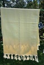 Turkish Towel - Yellow & White print