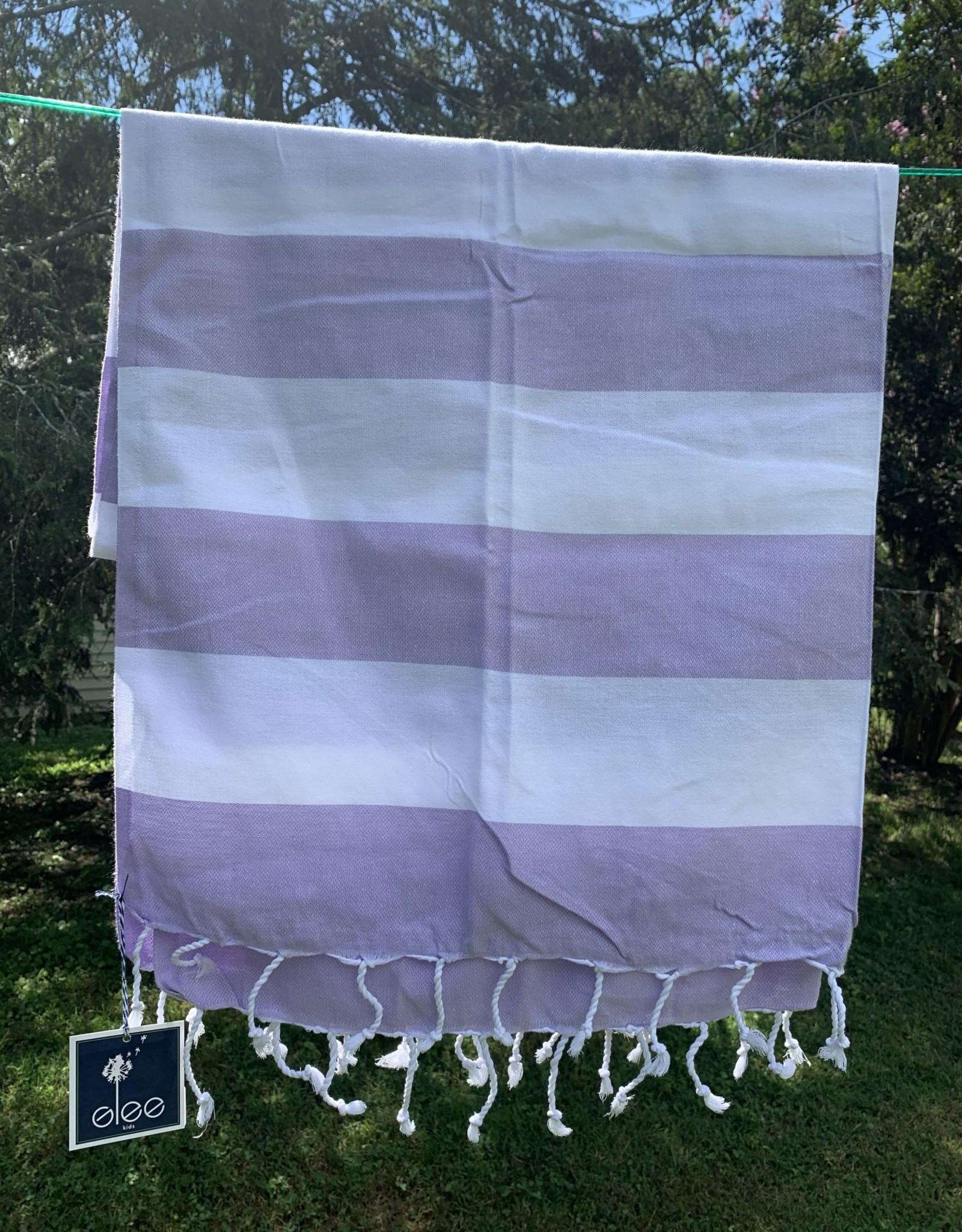 Turkish Towel - Lavender Stripe