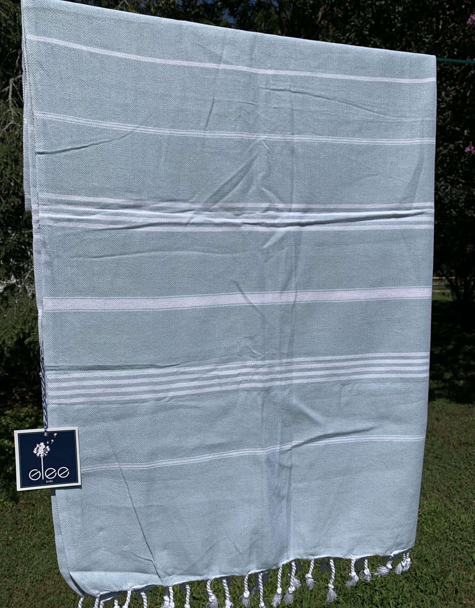 Turkish Towel - Carolina Blue Stripe