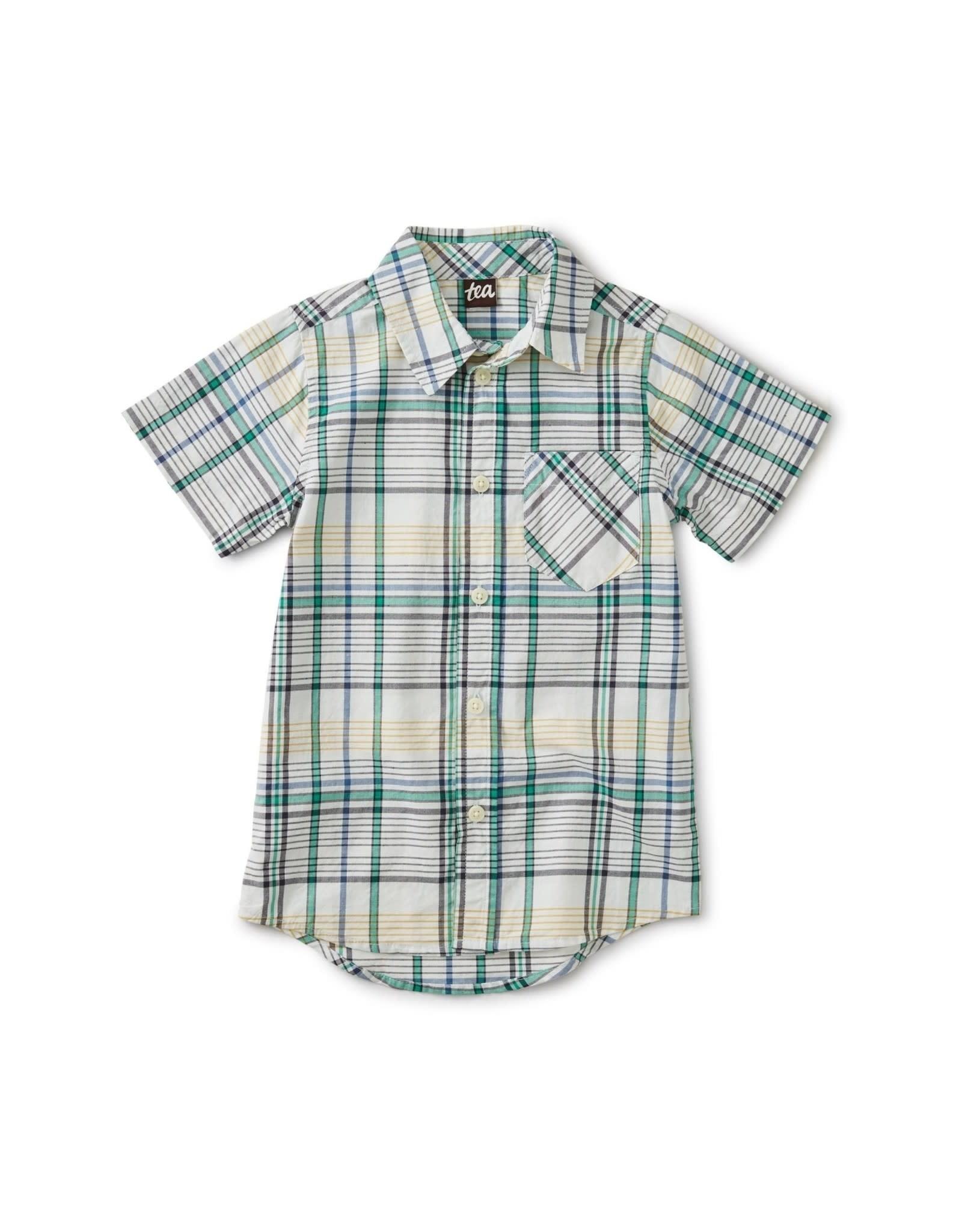 Tea Madras Plaid Woven Shirt 2SP20